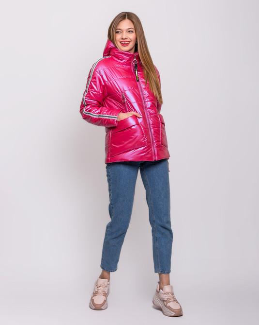 Куртка - съемный капюшон малиновая