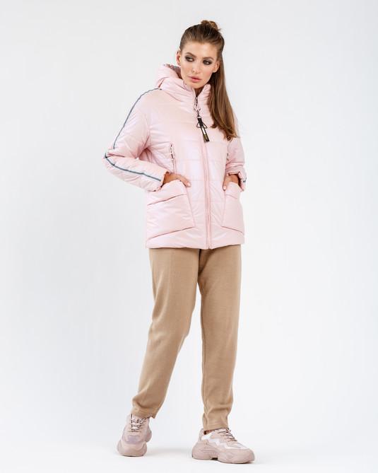 Куртка - съемный капюшон пудра