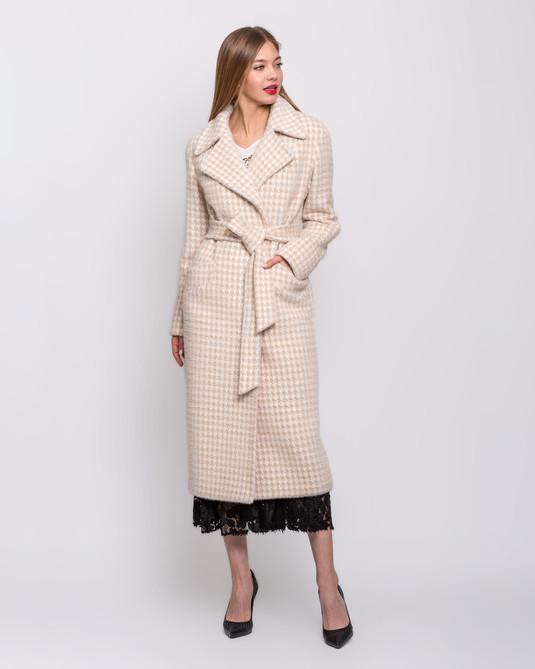 Пальто халат беж