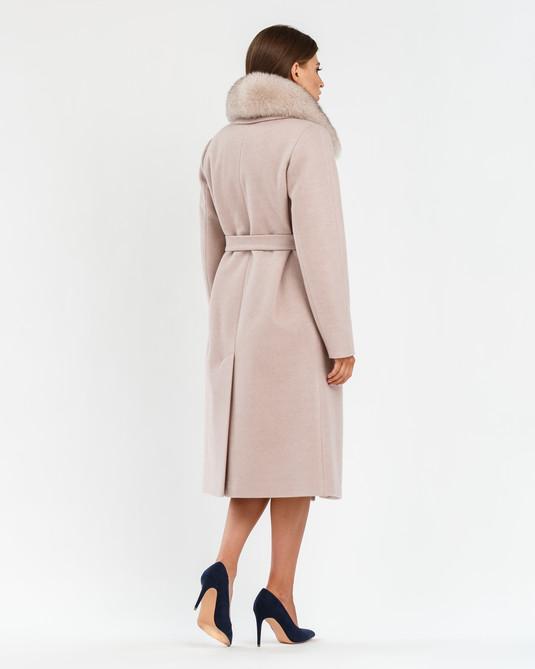 Зимнее классическое пальто беж