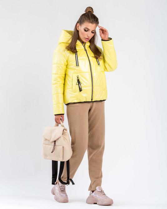 Куртка молодежная желтая