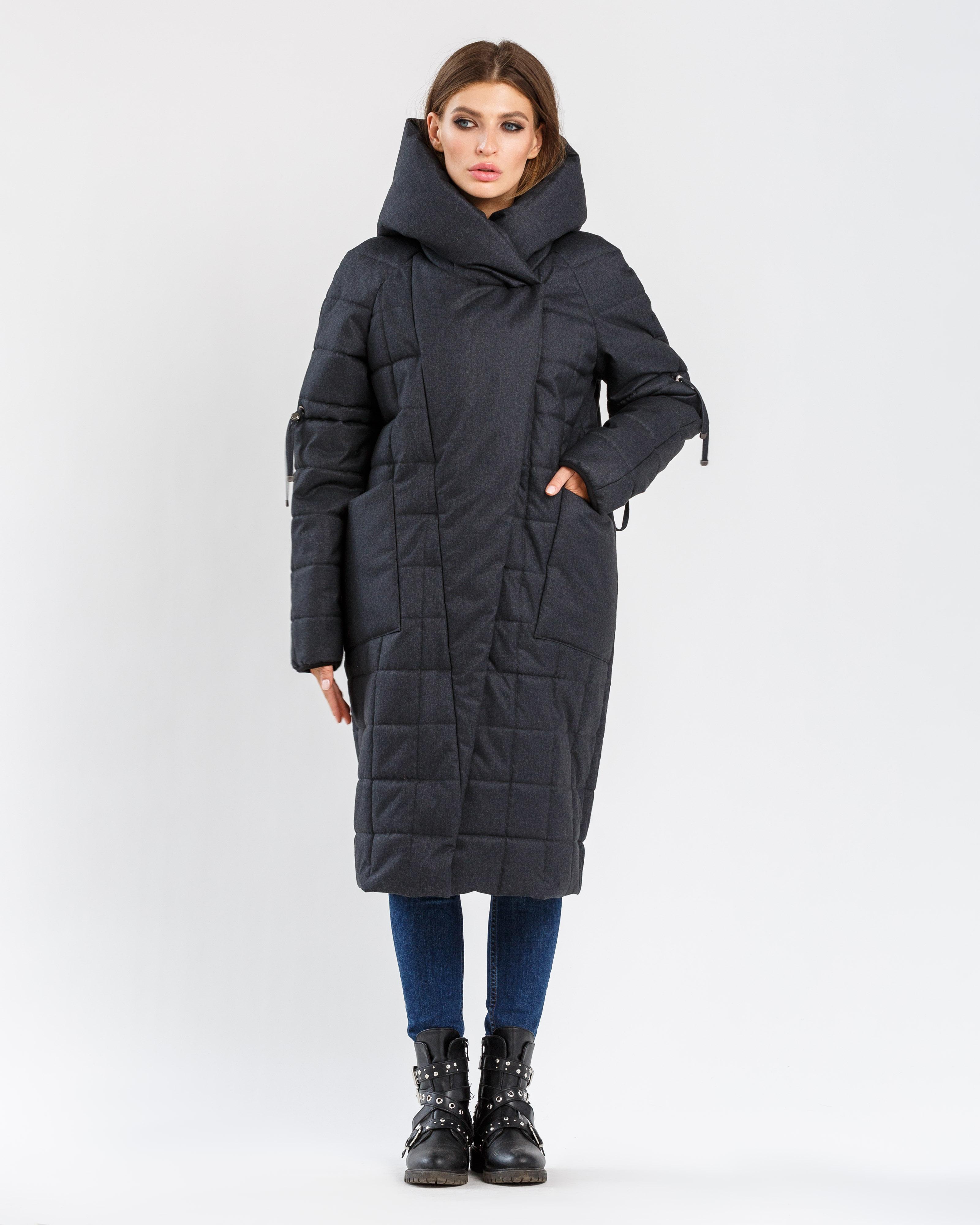 Зимняя меланжевая куртка