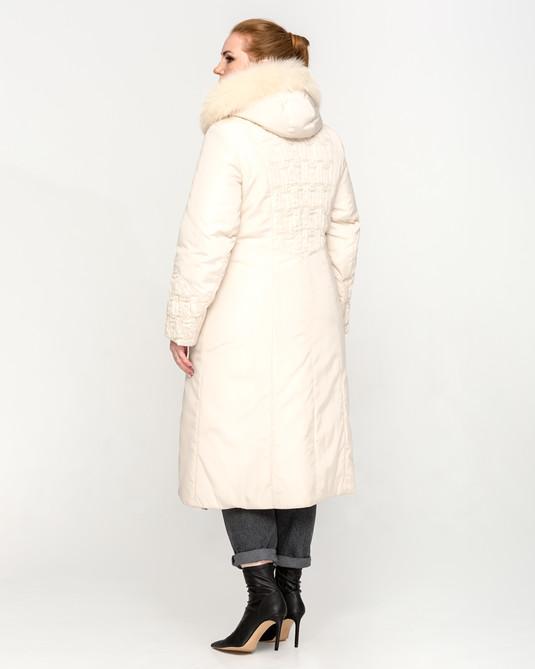Зимняя куртка молочная